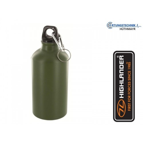 Alu Trinkflasche 1/2 l mit Karabiner